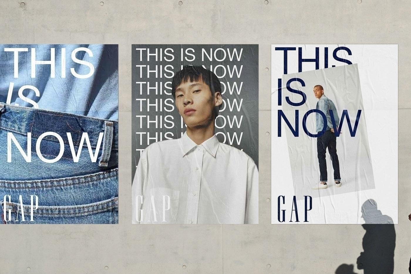 Typographic identity Gap design - northeastco   ello