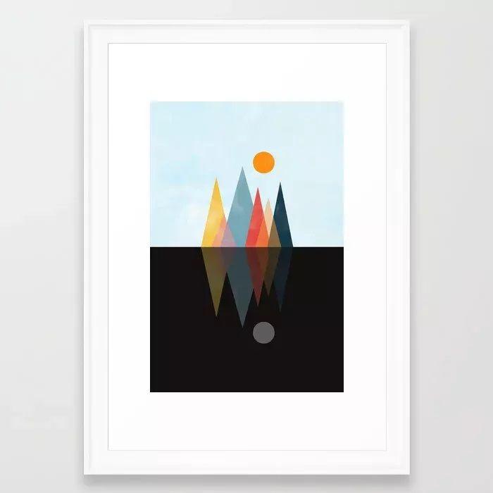 Day Night Framed Art Print - illustration - creativeaxle | ello