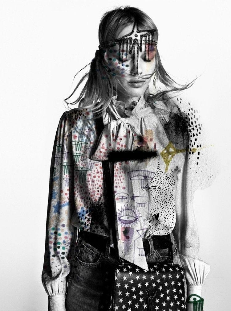 Drawing Saint Laurent - artist, fashionillustrator - nadiaflower | ello