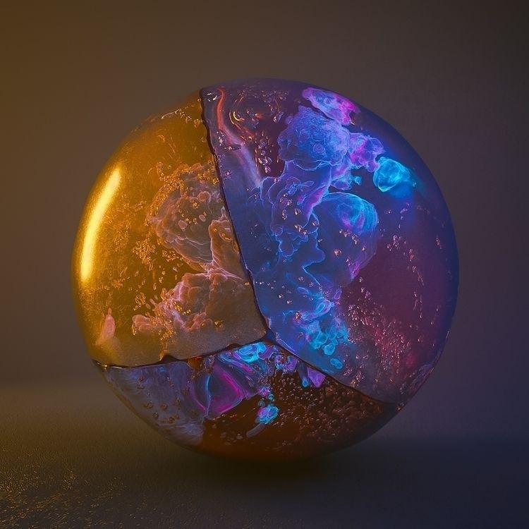 Marbliens - digitalart, marbles - keeraah | ello