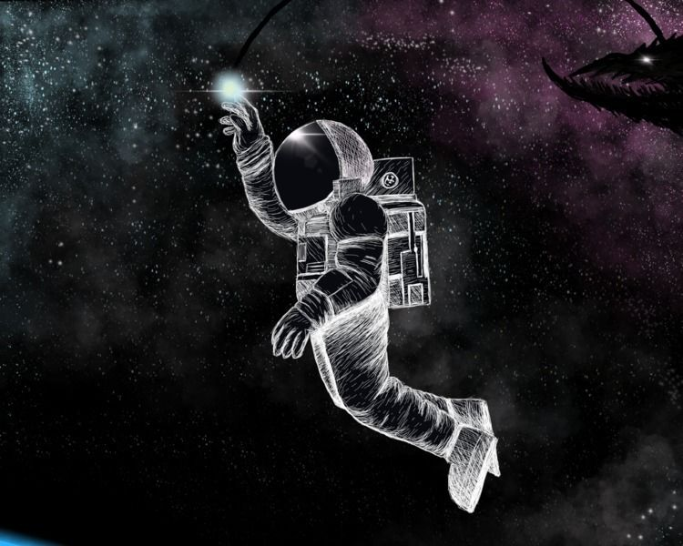 Spacewalk Speed drawing astrona - idavidsmith   ello