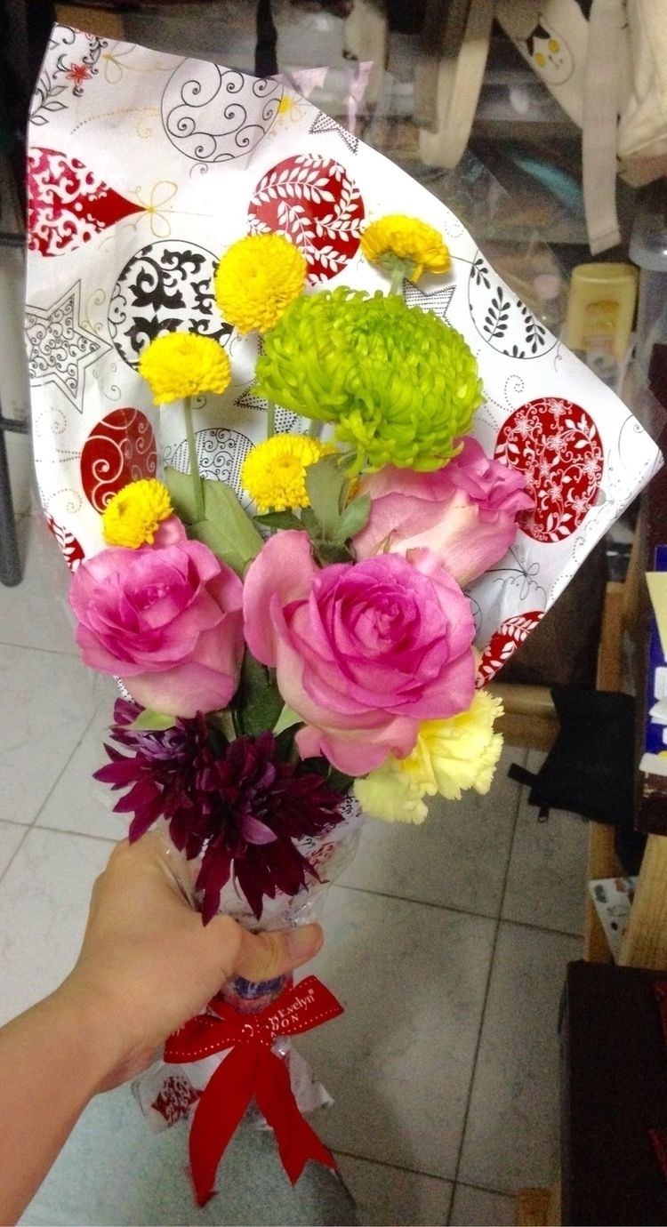 time flower art! simple bouquet - fredwin13 | ello