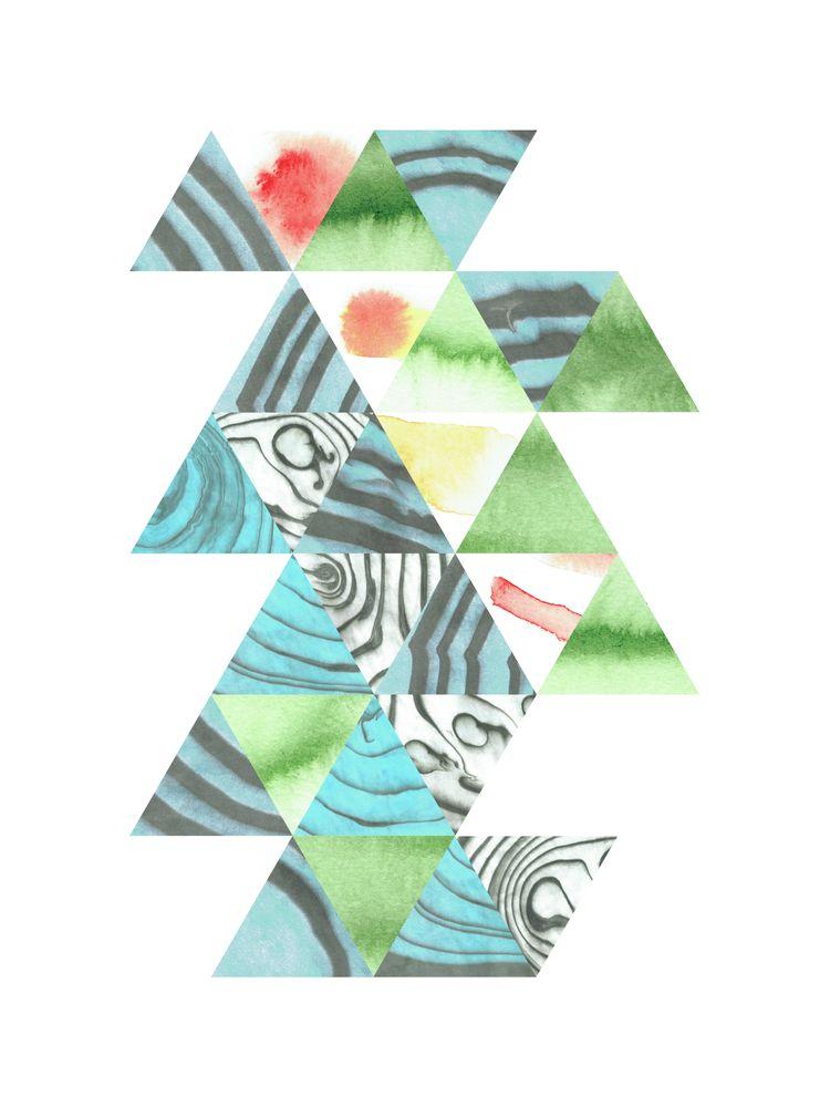 tile pattern. watercolour + dig - mineralannie | ello