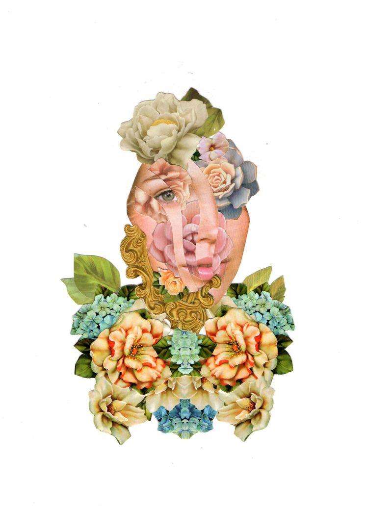 Girl - collage, girl, flower, eye - franalvez | ello