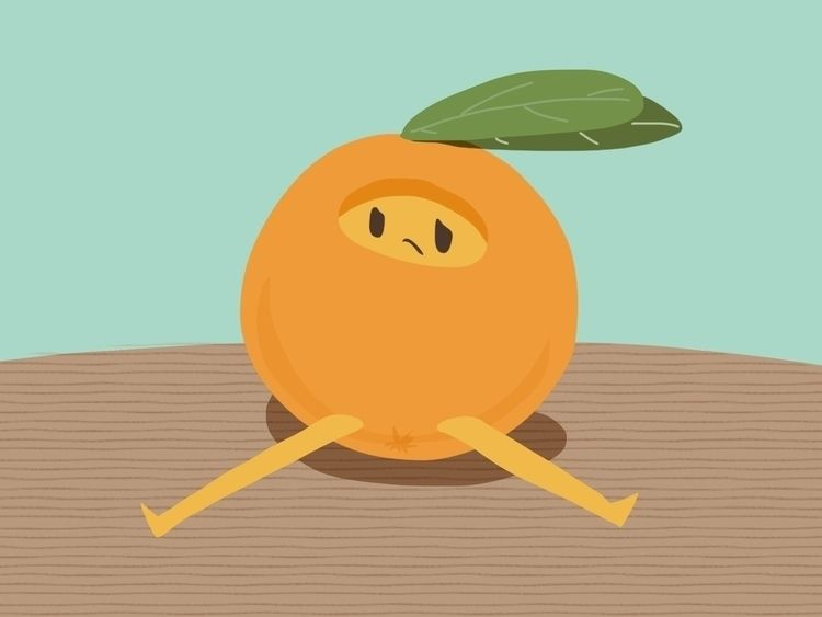 Sad tangerine:slightly_frowning - annahruskova | ello