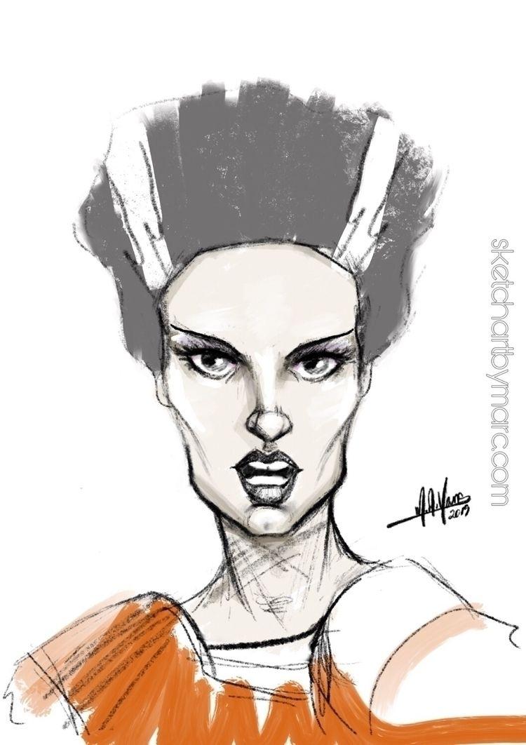 Inspired Bride - sketch, fashion - sketchartbymarc | ello