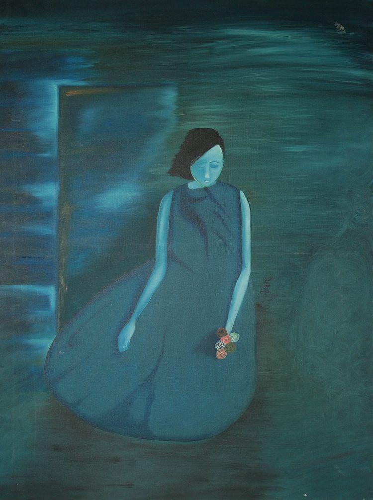 Blues Love Oil Painting Canvas - vyanrathore | ello