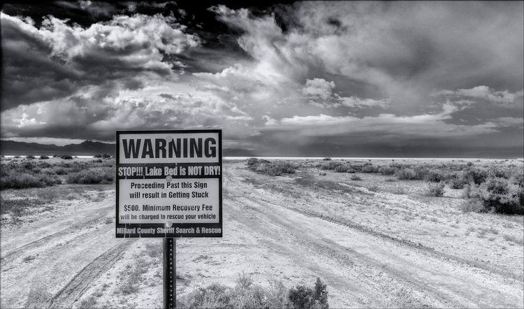 Yeah, sign ... Lake Sevier, dry - docdenny   ello