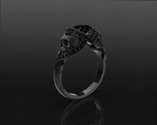 'St. Noir' natural black diamon - sapphire_studios_design | ello