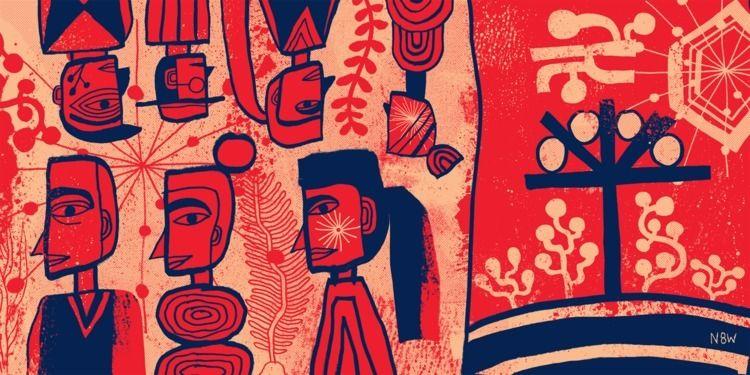 illustration, natewilliams, printmaking - n8wn8w | ello