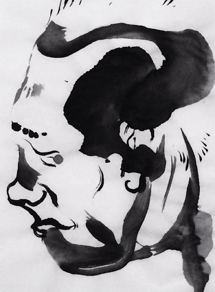 art, ink, sketch, portrait, mlui - mlui   ello