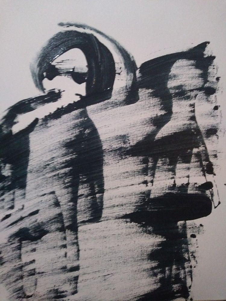 'ancient alien sightings - aliens#acrylic#art - cabrown73 | ello