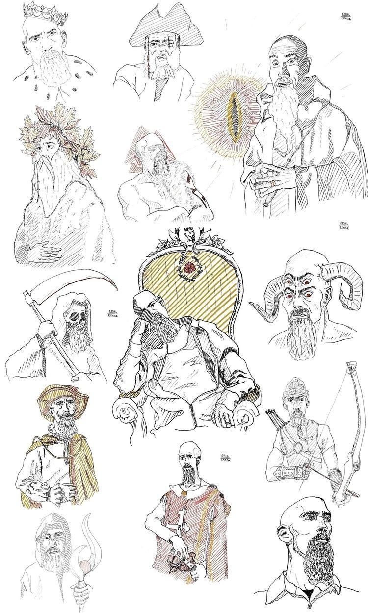 series drawings based Rick Niec - erosaerik   ello