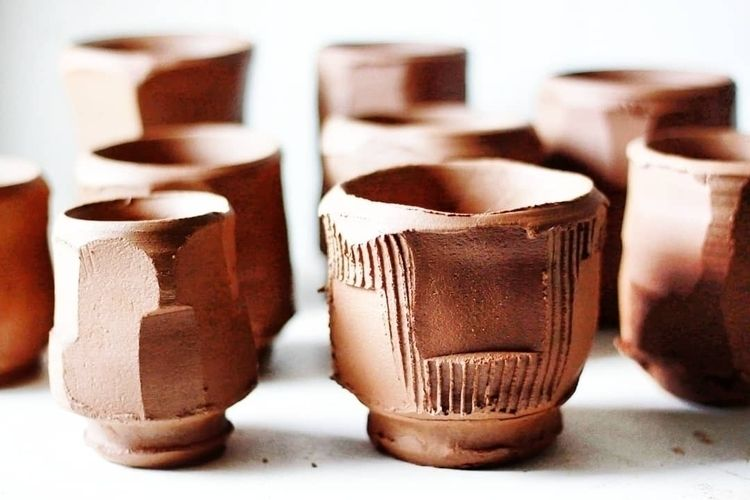 play shadows. Faceting cups rea - rollinghillspottery | ello