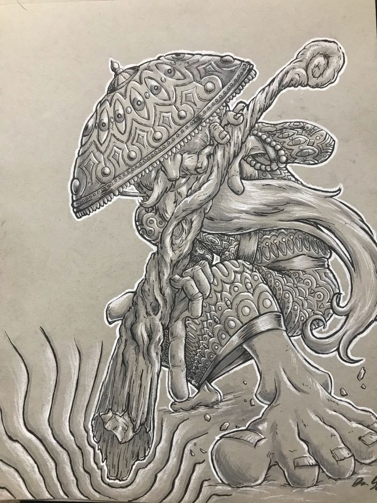 Mycelium Mage Ink white charcoa - hypnagogist | ello