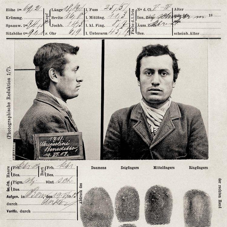 Benito Mussolini mugshot. Part  - tsion-chudnovsky | ello