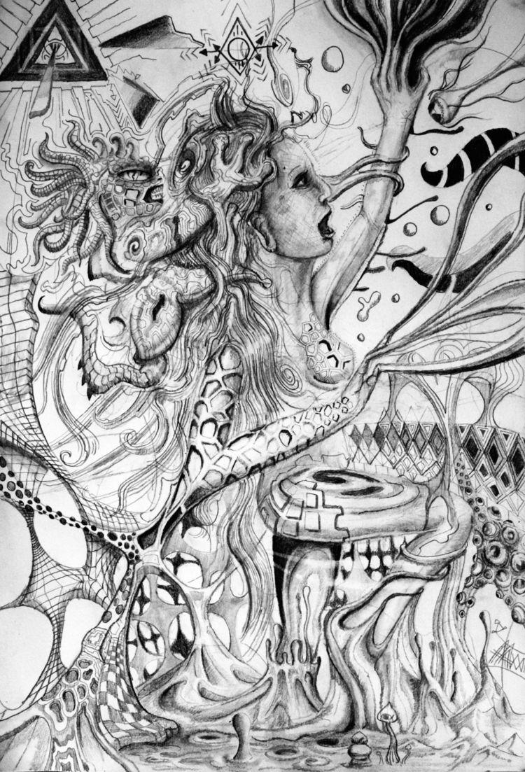 Aquarius Strain (pencil paper A - astarte23 | ello