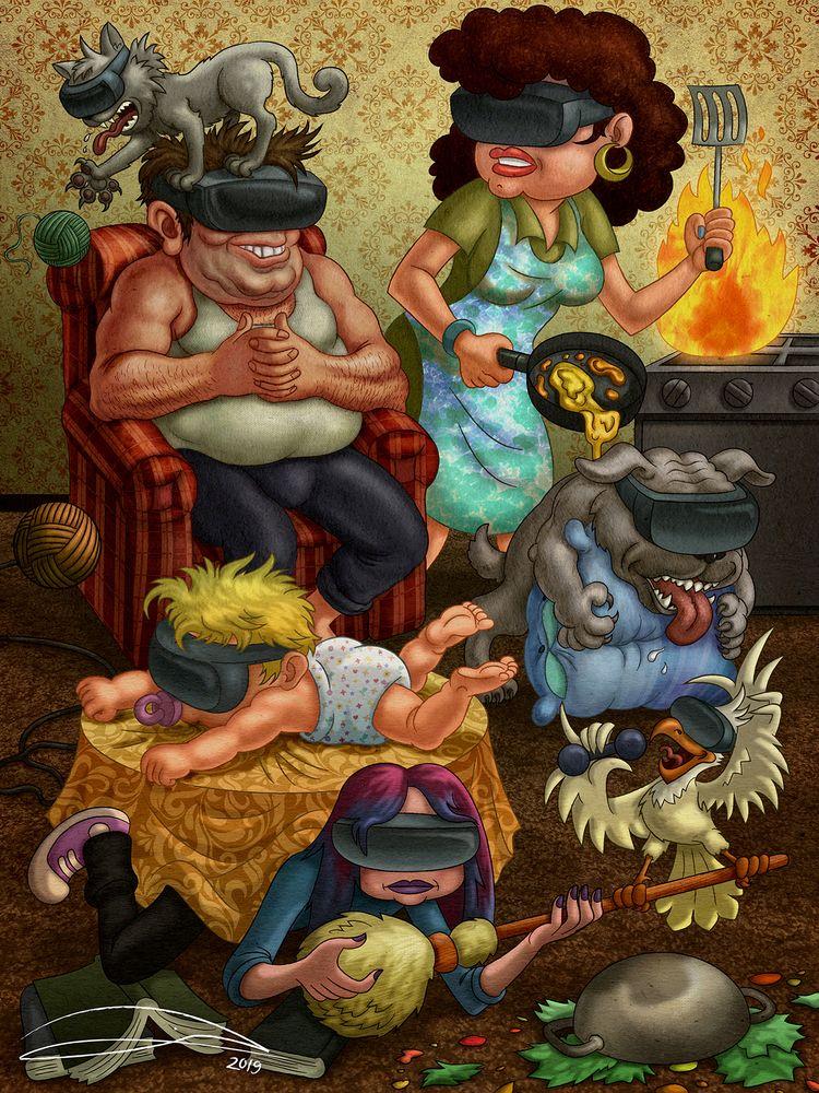 VR FAMILY, digital - vr, virtualreality - baruchinbar | ello