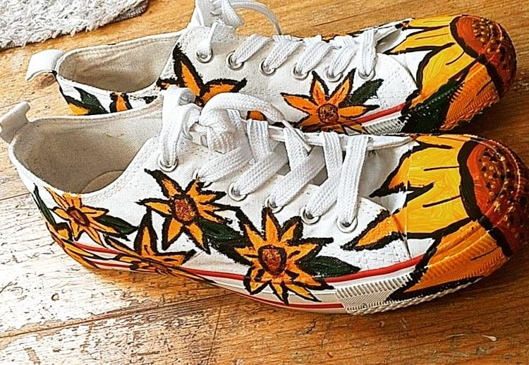 Sunflower shoes Sunny summer fi - ruthohaganartist | ello