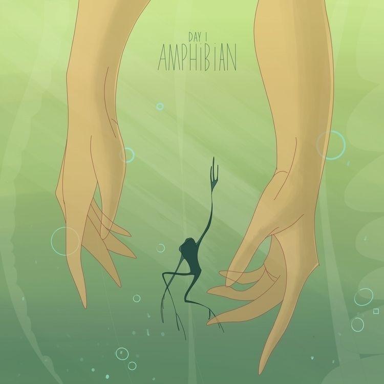 Frogs beautiful - illustration, rowena - rowenareena | ello