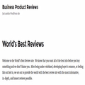 World's Best Review (@worldbestreviw) Avatar