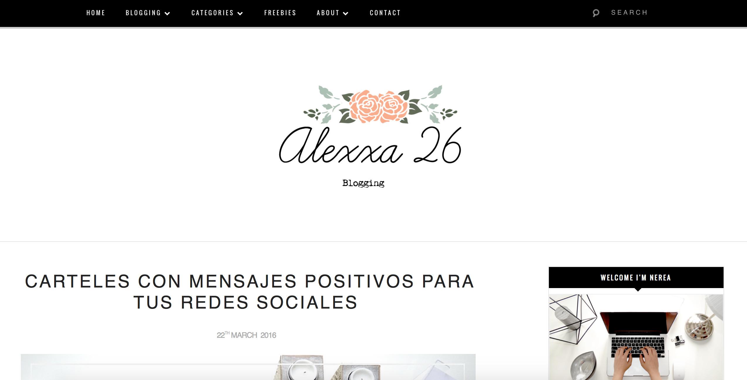 Nerea (Alexxa 26 Blog) (@alexxa26_) Cover Image