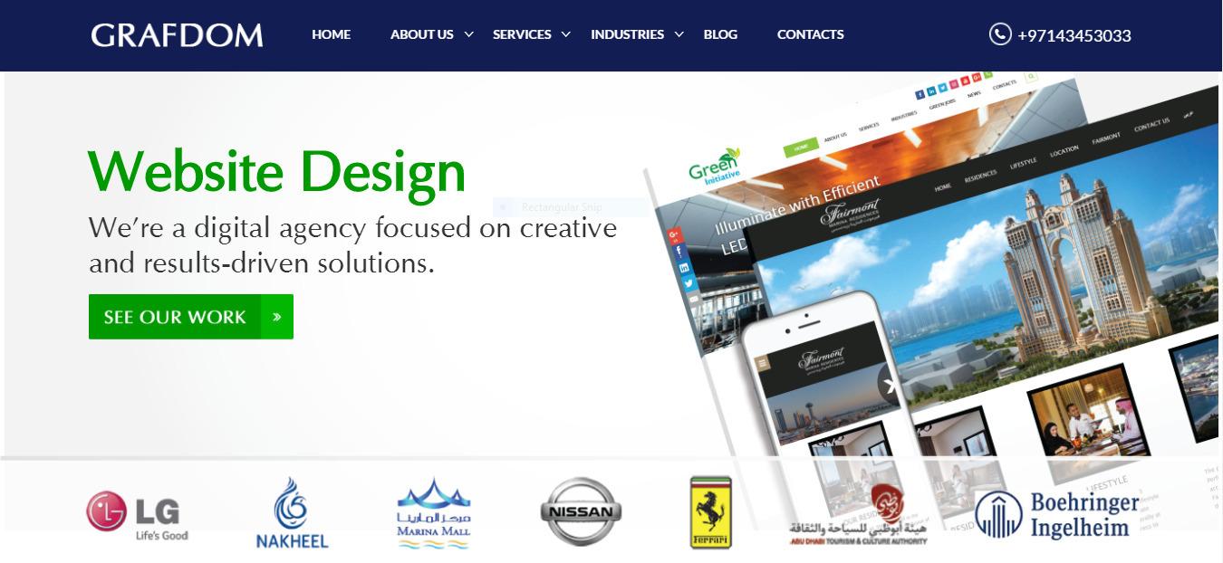 Web Design Company Dubai (@grafdom) Cover Image
