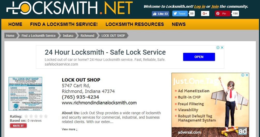 Locksmith Indiana (@locksmithrichmondindiana) Cover Image