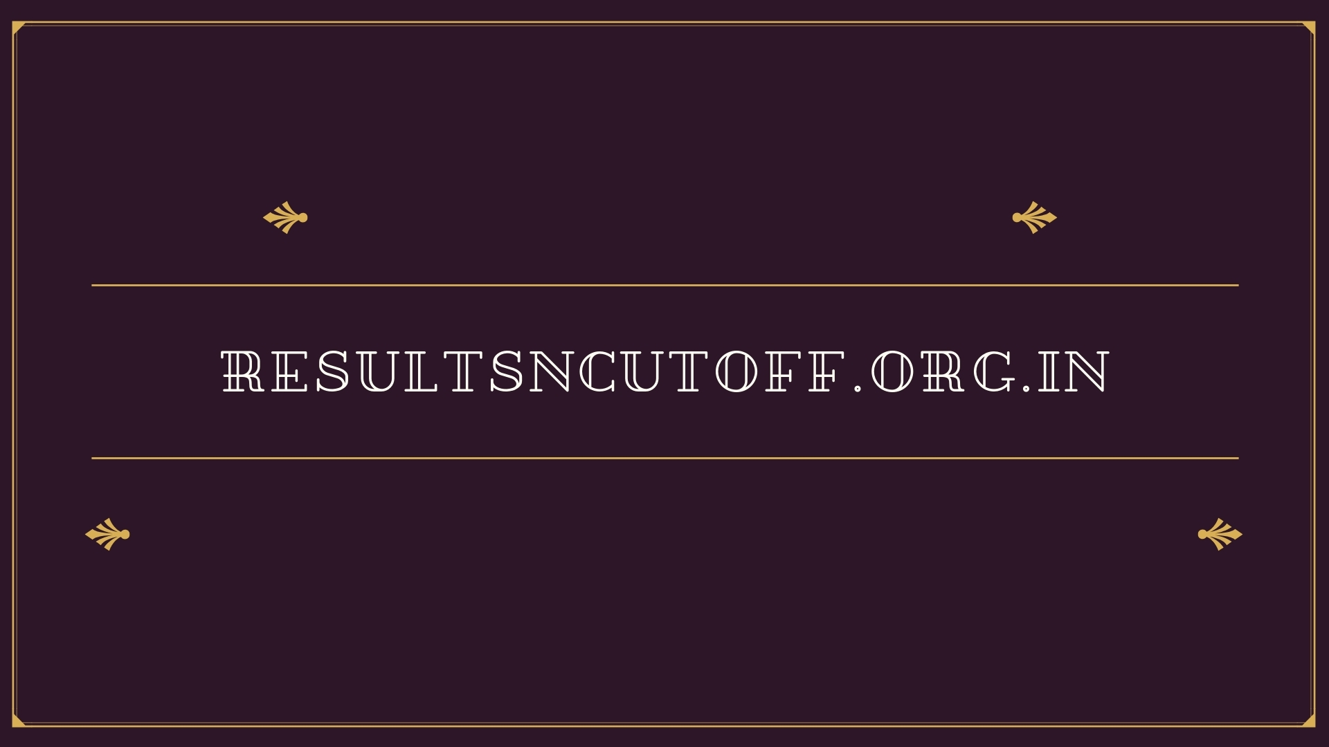 Resultsncut (@resultsncutoff) Cover Image