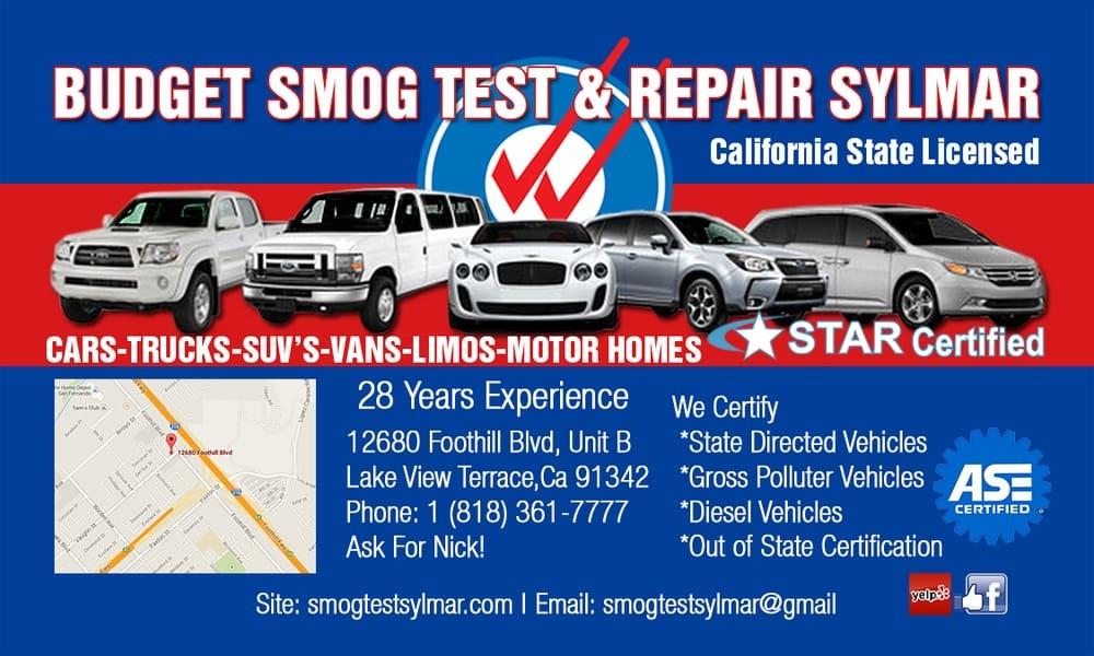 Budget Smog Test & Repair Sylmar (@smogtestsylmar) Cover Image