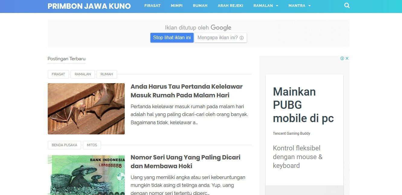 Primbon Jawa Kuno (@primbonjawakuno) Cover Image