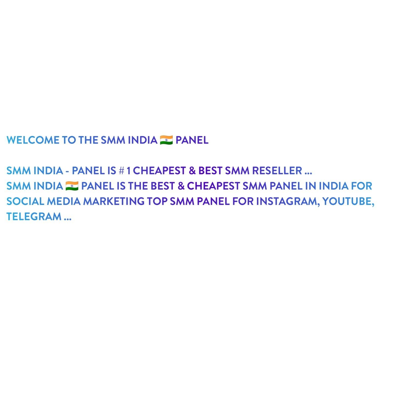 SMM INDIA PANEL  (@smmindiapanel) Cover Image