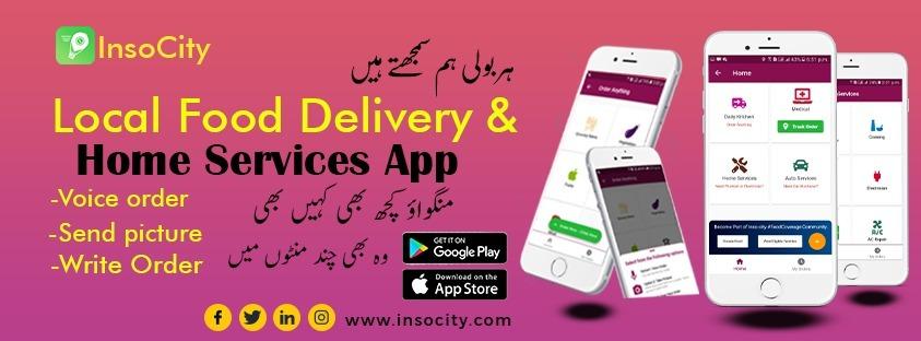 Insocity Food Delivery & Home Services Application (@insocity) Cover Image